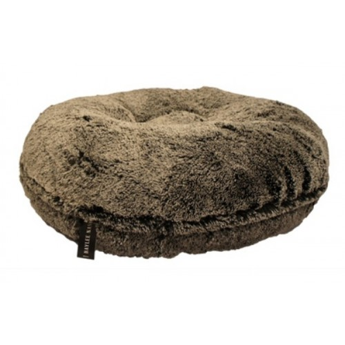 Black Frosted Shag Round Bed