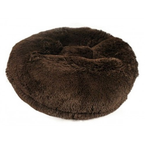 Brown Shag Round Bed