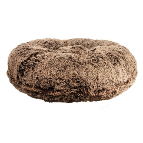 Chocolate Frosted Shag Round Bed