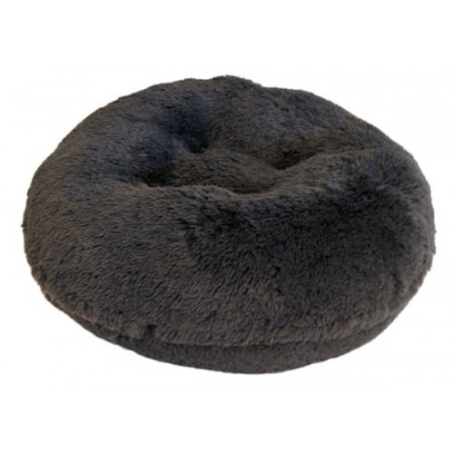 Grey Shag Round Bed