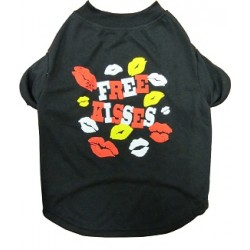 Free Kisses Dog Tee