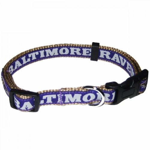 NFL Baltimore Ravens Dog Collar -Ribbon