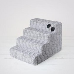 Luxury Pet Stairs - Dove Gray