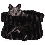 Black Reversible Snuggle Bug Pet Bed, Bag, and Car Seat in One