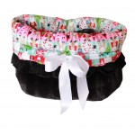 Christmas Medley Reversible Snuggle Bug Pet Bed, Bag, and Car Seat in One
