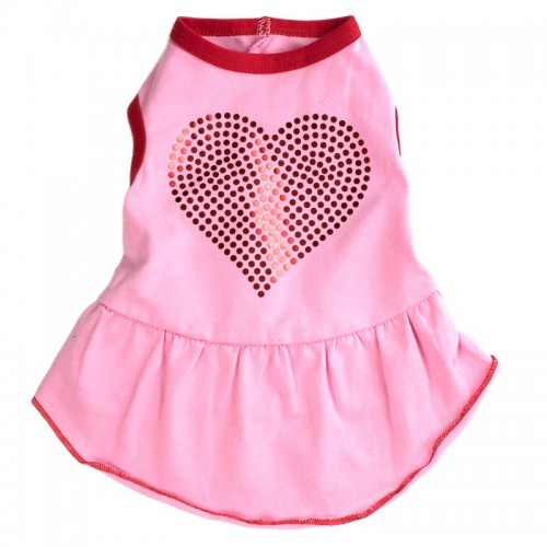 Bling Heart Dog Dress