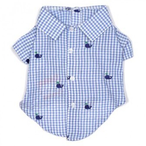 Gingham Whales Shirt