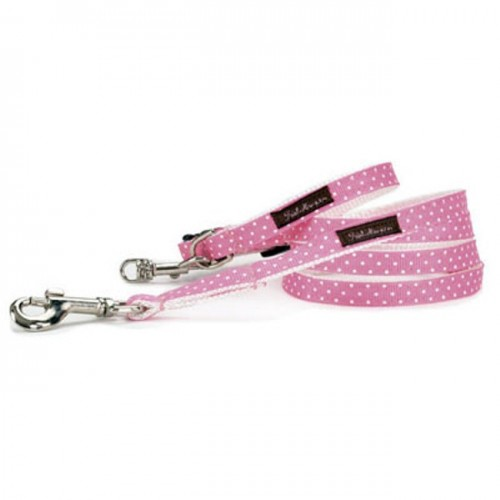 Hot Pink/White Mini Polka Collar Collection