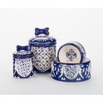 Mexican Ceramic Dog Bowls & Treat Jars