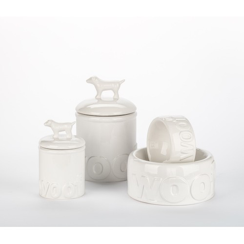 Woof Ceramic Bowls & Treat Jars