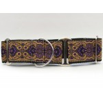 Kashmir Sultan Purple Martingale Dog Collar