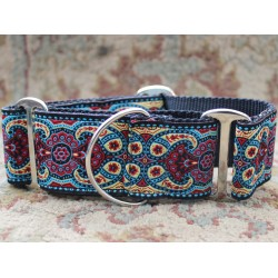 Kashmir Temple Red Martingale Dog Collar