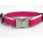 Preppy In Pink Collar Silver Metal Buckles