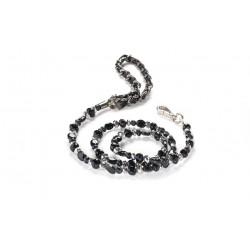 Fabuleash Beaded Dog Leash - The 5th Avenue Collection - Jet Black