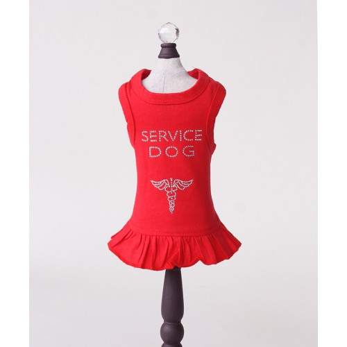 Red Service Dog V-Neck Tank