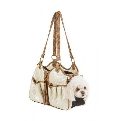 Metro Luxe Quilted Dog Tote With Tassel